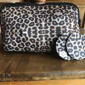 Handbags - NWT Neoprene Makeup Bag & Car Coasters